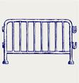 Steel barricades vector image vector image