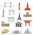 World Landmark Icon Set vector image
