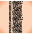 Abstract seamless lace pattern with flowers vector image