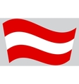 Austrian flag waving vector image