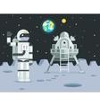 Cosmonaut Astronaut Landing Planet Lander Icon on vector image