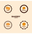 Delicious bakery labels vector image