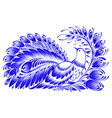 floral decorative ornament peacock vector image