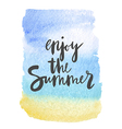 Motivation poster Enjoy the summer Abstract vector image