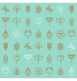 plant icons background vector image