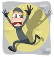 scared thief vector image