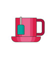 tea cup flat vector image