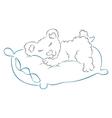 teddy is sleeping vector image