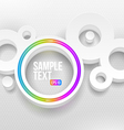 Abstract white round shapes with multicolor neon vector image vector image