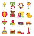 baby toys flat icon set vector image