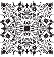 Traditional oriental floral ornament vector image