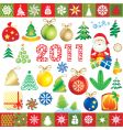 new year design elements vector image vector image
