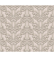 Beige lace pattern vector image vector image