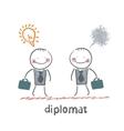 diplomat vector image vector image