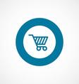 shopping cart bold blue border circle icon vector image