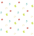 Clean and simple musical seamless pattern in flat vector image