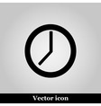 clock icon on grey background vector image