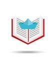 concept school book ship paper vector image