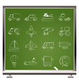 Different kind of transportation icons vector image