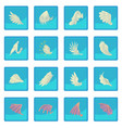 different wings icon blue app vector image
