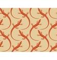 lizards seamless wallpaper pattern vector image