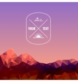 Low polygonal mountains at evening vector image