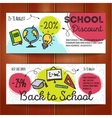 set of discount coupons for stationary vector image
