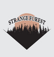 strange forest silhouette vector image