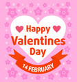 valentines day background card purple vector image