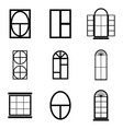 window icon set vector image