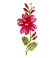 floral decorative ornament vector image vector image