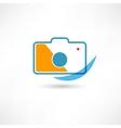Digital cam line icon vector image