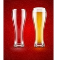 Beer with froth in the glass vector image