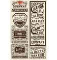 Old advertisement designs - Vintage vector image