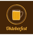 Oktoberfest Beer glass mug with foam cap froth vector image