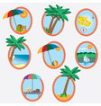 vacation theme vector image