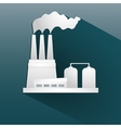 Ecology background with paper industrial objects vector image