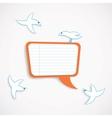 Speech bubble and birds vector image vector image
