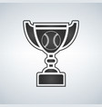 baseball trophy cup award icon in flat vector image