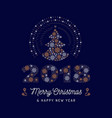 christmas card and new year 2018 poster christmas vector image