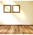 Frame hanging on wall interior template EPS 10 vector image
