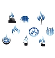 Gas industry symbols and icons vector image