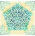 Hand drawn ethnic circular blue ornament vector image