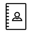 line phone book icon vector image
