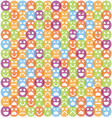 Smile icon seamless pattern vector image