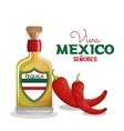 viva mexico tequila and chili graphic vector image
