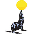 seal with ball vector image