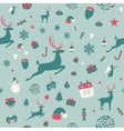 Seamless pattern design Merry Christmas card vector image
