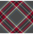 Gray red diagonal check tartan textile seamless vector image