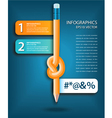 Knotted pencil infographics template vector image vector image